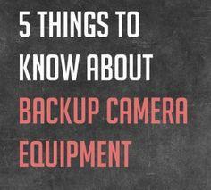 backup camera equipment