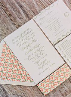 classic invites with a pop of fabulous by http://www.littlemisspress.com/  Photography by http://lisalefkowitz.com