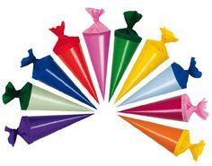 10 Stk. Schultüte 12 cm - rund - Geschenktüte klein Dekoration Zuckertüte Deko für Schulanfang Dekotüten 12cm: Amazon.de: Spielzeug