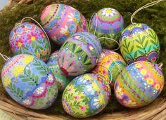 Basket FULL of hand-painted Easter eggs by Jone Hallmark
