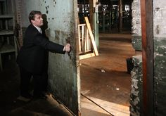This is one of the old, weighted doors inside the JJ Rogers building in downtown Tupelo. It is the original cotton mill in Mill Village. Photo courtesy of the Northeast Mississippi Daily Journal.