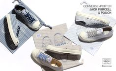 #CONVERSE x #PORTER JACK PURCELL & POUCH #sneakers