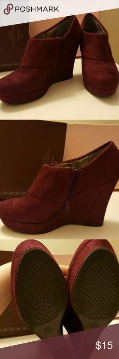 """Mossimo Wedges - MUST SELL BY 8/31/16 Very gently used wedges. Height 4.5"""" Mossimo Supply Co. Shoes Wedges"""