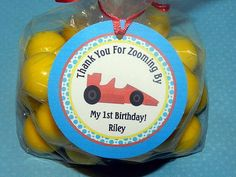 Race Car BirthdayRace Car Party Car birthday by APartyWithPaper. , via Etsy.