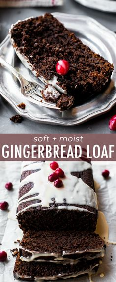 Factors You Need To Give Thought To When Selecting A Saucepan Spiced Gingerbread Loaf That's Soft, Moist, And Intensely Flavored Like The Holidays With Molasses And Ginger Recipe On Easy Holiday Recipes, Holiday Desserts, Holiday Baking, Christmas Baking, Just Desserts, Delicious Desserts, Christmas Recipes, Christmas Foods, Christmas Treats