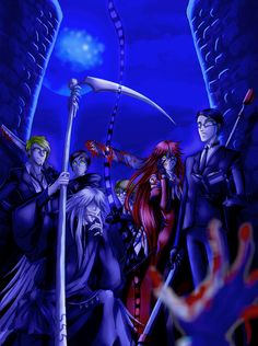 Tags: Kuroshitsuji, SQUARE ENIX, Grell Sutcliff, Undertaker, William T. Spears, Ronald Knox, Eric Slingby, Alan Humphries