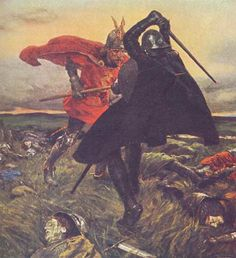 The Battle between King Arthur and Sir Mordred by W. Hatherall