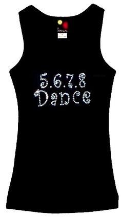 5678 Dance rhinestones Tank Top [072-8104] - $22.00 : 3 Pearls Kids, Customized Rhinestone T-Shirts and Clothing