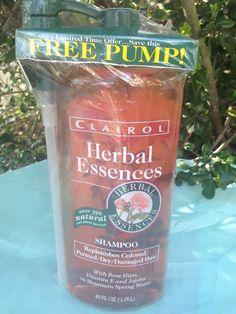 Vintage Old 1994 Herbal Essences 1 Liter 33.8 oz Shampoo Dry Hair Rose E Jojoba  | eBay