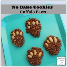 No Bake Cookies – Gruffalo Paws – kids baking Gruffalo Eyfs, Gruffalo Activities, Gruffalo Party, Eyfs Activities, The Gruffalo, Activities For Kids, Preschool Ideas, Craft Ideas, Kids Cooking Recipes