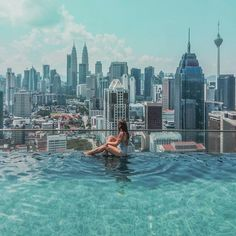 #iamtb . #TravelRepost @rutaideal in ...  Malaysia / Malasia .   If you want to have such a nice view of the Malaysian capital from an infinity pool one of the apartments where you can get it is Regalia Residence. You can book an apartment through Airbnb and the prices are really good comparing to the hotels in KL.  Si queréis tener una vista increible de la capital de Malasia desde una piscina infinita uno de los apartamentos donde la podéis obtener es Regalia Residence. Se puede reservar… Malaysia Truly Asia, Malaysia Travel, Asia Travel, Atlantis Island, Location Airbnb, Kuala Lumpur Travel, Sky Pool, Petronas Towers, Singapore Photos