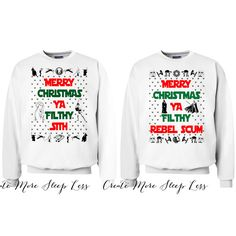 Home Alone Sweater Merry Christmas Ya Filthy Animal in Red Sizes S-Xl... ($25) ❤ liked on Polyvore featuring tops, sweaters, silver, women's clothing, white sweater, white jumper, red jumper, unisex sweaters and red christmas sweater