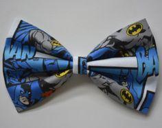 Batman-hair Bow, bows for hair, girls Hair bows, fabric bows, Hair Bow for teens
