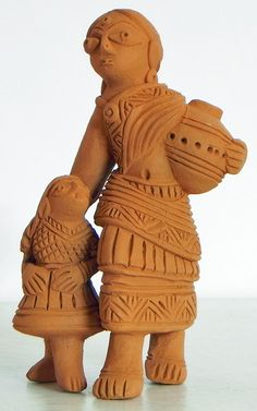 Mother and Daughter (Terracotta))