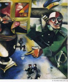 The Soldier Drinks - Marc Chagall -