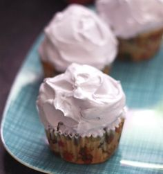 Blueberry Mint Cupcakes