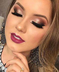 Amazing Wedding Makeup Tips – Makeup Design Ideas Fresh Wedding Makeup, Wedding Hair And Makeup, Bridal Makeup, Prom Makeup, Lip Makeup, Bridesmaid Makeup, Winter Makeup, Fall Makeup, Braut Make-up