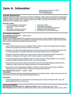 it seems hard to make database administrator resume that has high impact to get you easily - Information Security Resume