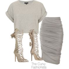 A fashion look from August 2015 featuring Donna Karan skirts and Roberto Cavalli ankle booties. Browse and shop related looks.