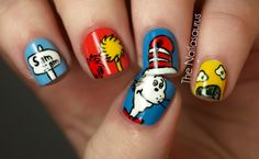 More Seussical nail designs