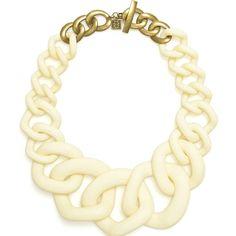 Rolling Rock Statement Necklace - Cream