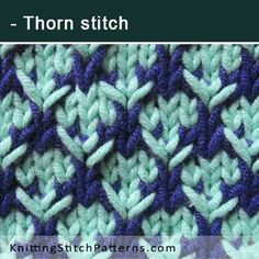 Thorn stitch. Free Knitting Pattern includes written instructions and video tutorial.