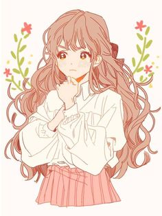 Discovered by ♛Nιdια♛. Find images and videos about cute, anime and kawaii on We Heart It - the app to get lost in what you love. Kawaii Anime Girl, Kawaii Art, Anime Art Girl, Manga Girl, Kawaii Drawings, Cute Drawings, Character Art, Character Design, Tamako Love Story