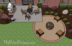 Circular Paver Patio - love this idea for a small but useful patio.