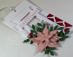 Day #7 of my 12 Days Of Christmas Tags using Stampin' Up! Reason For The Season and Hearth & Home Thinlits Dies. Debbie Henderson, Debbie's Designs