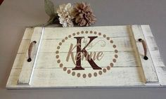 Wood Pallet Tray Wedding Gift Bridal Shower Gift Personalized Gift Shabby Chic Vintage Rustic Chic Housewarming Gift Farmhouse Chic Decor