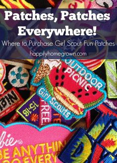 Besides GSUSA, there are many resources for getting fun patches for your Girl Scout troop. Here are three of my favorites. via @homegrownhuston