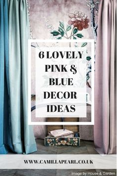 Pink and Blue compliment each other beautifully in any decor or design scheme to create and warm and inviting interior vibe, head to the blog for more pink and blue interior decor ideas to suit both modern and traditional interior design styles.