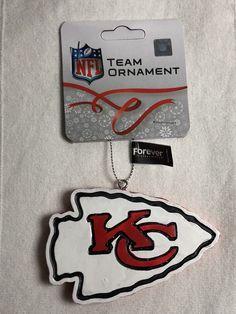 NFL Kansas City Chiefs Resin Team Logo Christmas New Holiday Tree Ornament NWT #ForeverCollectibles #KansasCityChiefs