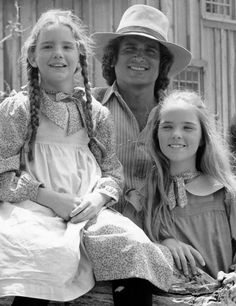 Laura, Pa & Mary from Little House on the Prairie