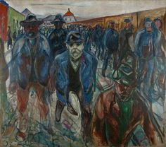 One of Edvard Munch' monumental paintings of workers from the Anniversary Exhibition 'Munch 150'