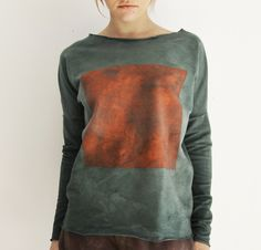 hand dyed hand painted Men Sweater, Hand Painted, Sweatshirts, Sweaters, Clothes, Fashion, Outfits, Moda, Clothing