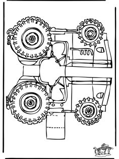 Print, cut and paste--to play tractor tipping! Craft Kits For Kids, Art For Kids, Crafts For Kids, Colouring Pages, Coloring Books, Craft Images, Felt Books, Pictures To Draw, Free Paper