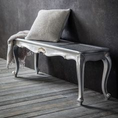 Luxe Silver Bench