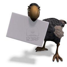 very funny toon Dodo-bird  Stock Photo