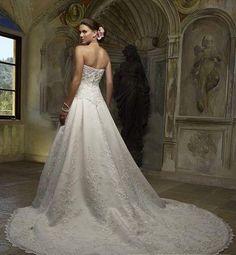 Plus Size Embroidering Strapless Wedding Dresss Princess #vestidos de #novia