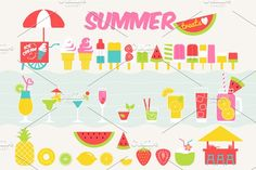 Summer treat illustrations - Illustrations