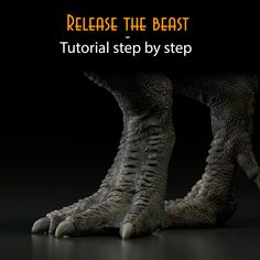 Release the beast - step by step tutorial, Gael Kerchenbaum on ArtStation at https://www.artstation.com/artwork/0WLJY