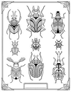"""""""pour me donner des ailes"""" coloring book agenda 2015 on Behance Colouring Pages, Adult Coloring Pages, Coloring Books, Insect Coloring Pages, Mandala Coloring, Bug Art, Insect Art, Doodles Zentangles, Bugs And Insects"""