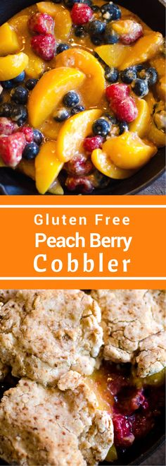 Gluten Free Peach Berry Cobbler is the perfect spring dessert. With only a few simple ingredients and no refined sugar it's the perfect end to any spring meal!