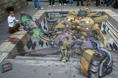 Julian Beever sidewalk art