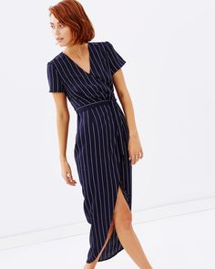 Dinah Crossover Wrap Dress by Atmos&Here Online | THE ICONIC | Australia
