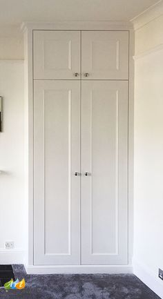 Fitted Wardrobes and Bookcases in London. Alcove Shelving, Built-in Cupboards and Victorian Style Wardrobes at Art Carpentry Central London Alcove Wardrobe, Bedroom Alcove, Bedroom Built In Wardrobe, Wardrobe Design, Bedroom Storage, Home Bedroom, Fitted Wardrobe Doors, Diy Fitted Wardrobes, Closet Doors