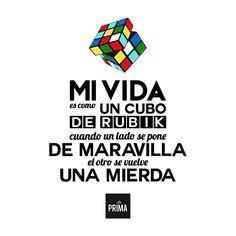 . Mi Cubo de Rubik . Rubik's Cube, Calm, Memes, Instagram Posts, Cubes, Pretty Quotes, Display, Patrones, Backgrounds
