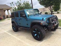"Photo of Meador Dodge Chrysler Jeep Ram - ""Awesome matte teal jeep Shagufta helped me thru the whole process Go see Shagufta and Debbie"" - Fort Worth, TX Auto Jeep, Jeep Cars, Jeep Truck, Jeep Jeep, Jeep Rubicon, Jeep Wrangler Unlimited, Jeep Wrangler Sahara, Fancy Cars, Cute Cars"