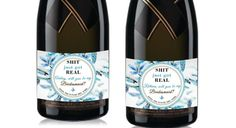Custom Mini Champagne Labels Wedding Printable by LabelByLoveArts